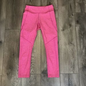 Outdoor Voices Warmup 3/4 Leggings High Rise Pink